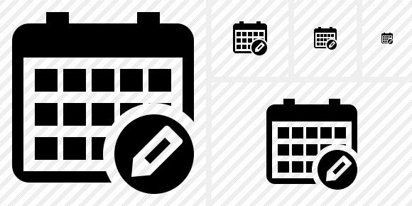 Calendar of Events Icon Calendar Edit Icon