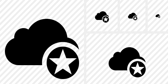 Cloud Star Icon