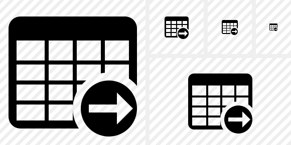 Database Table Next Icon