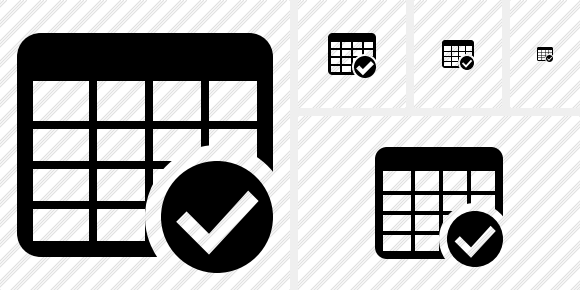 Database Table Ok Icon
