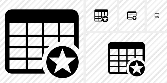 Database Table Star Icon