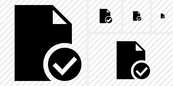 Document Blank Ok Icon