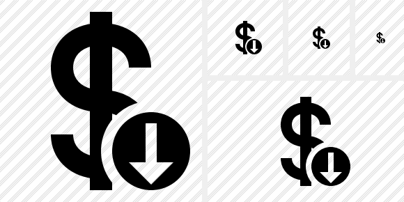 Dollar Download Icon