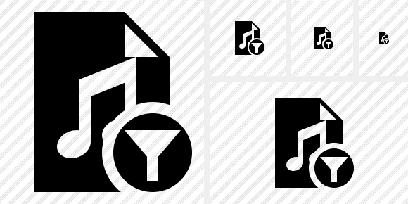 File Music Filter Icon