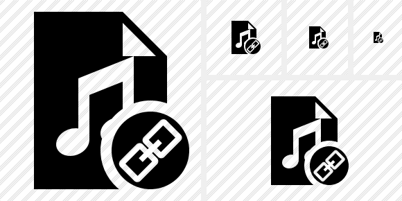 File Music Link Icon