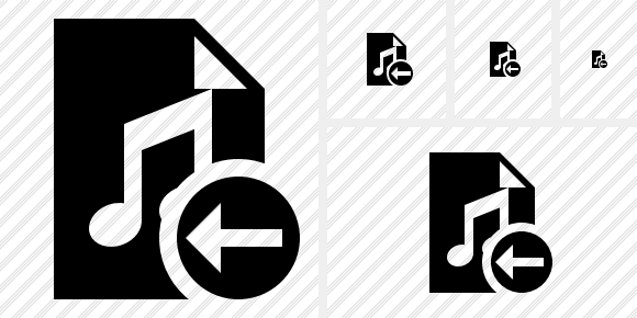 File Music Previous Icon