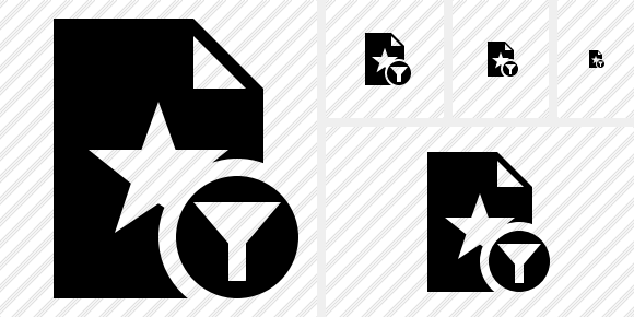File Star Filter Icon