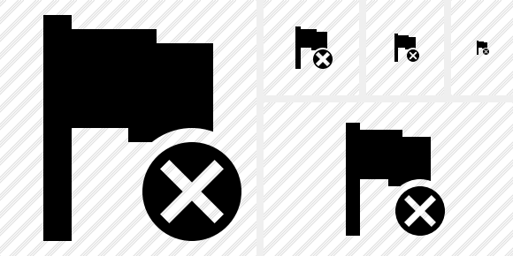 Flag Cancel Icon