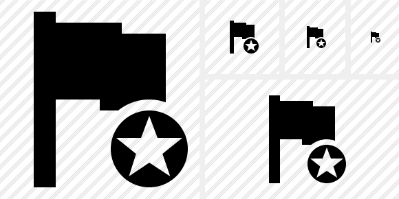 Flag Star Icon