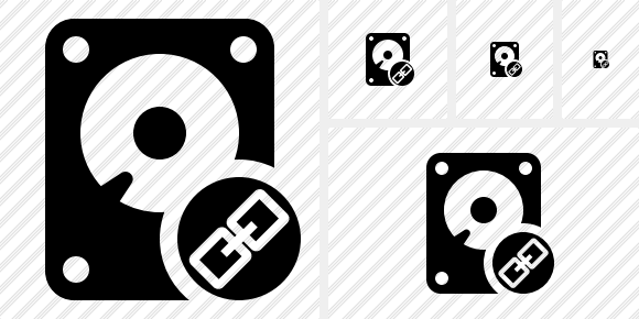 Hard Drive Link Icon
