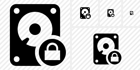 Hard Drive Lock Icon