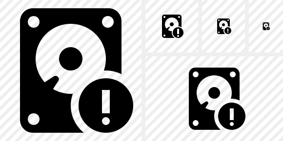 Hard Drive Warning Icon