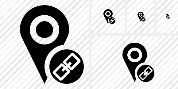 Map Pin Link Icon