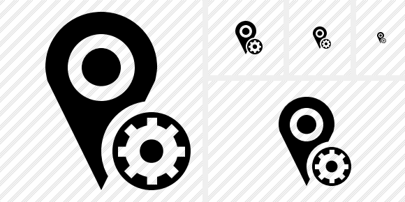 Map Pin Settings Icon