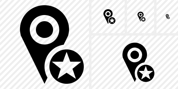 Map Pin Star Icon
