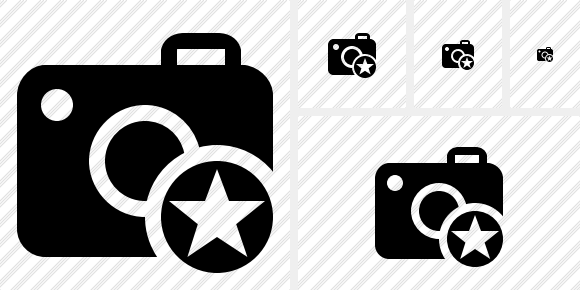 Photocamera Star Icon