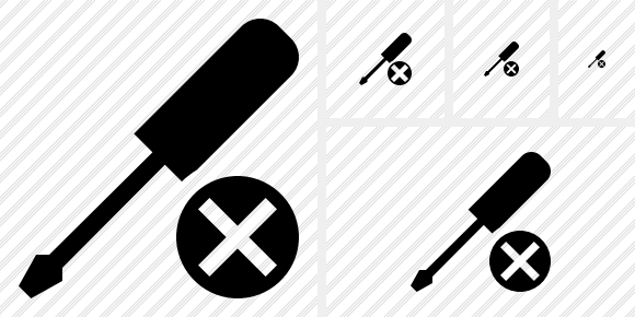 Screwdriver Cancel Icon