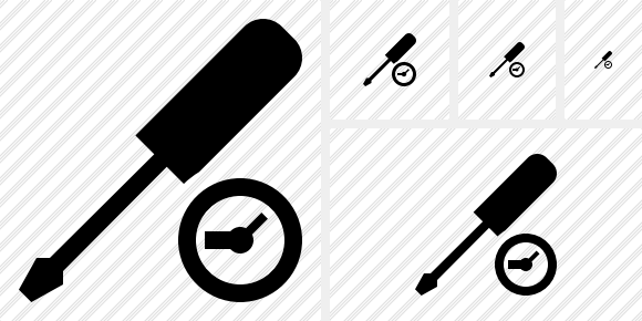 Screwdriver Clock Icon