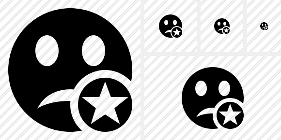 Smile Unhappy Star Icon