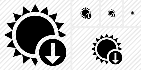 Sun Download Icon