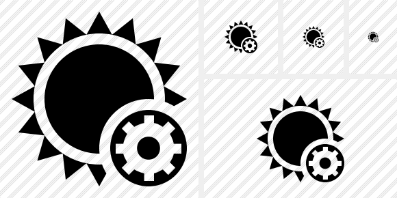 Sun Settings Icon