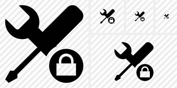 Tools Lock Icon