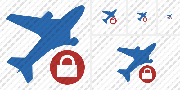 Airplane 2 Lock Icon