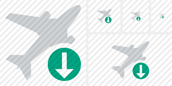 Airplane Download Icon