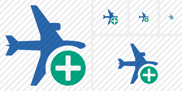Airplane Horizontal 2 Add Icon