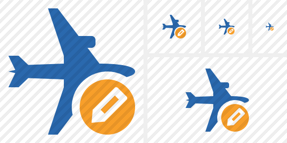 Airplane Horizontal 2 Edit Icon
