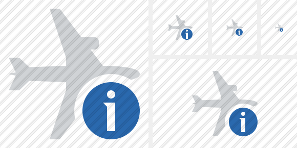 Airplane Horizontal Information Icon