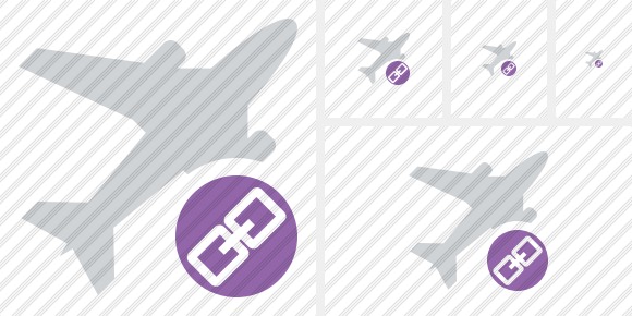 Airplane Link Icon