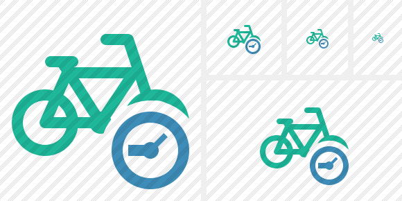 Bicycle Clock Icon