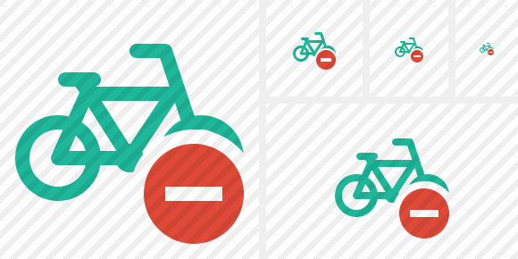 Bicycle Stop Icon