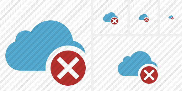 Cloud Blue Cancel Icon