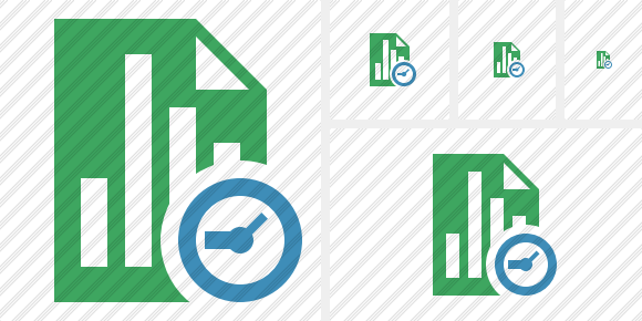 Document Chart Clock Icon