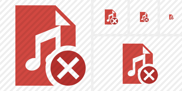 File Music Cancel Icon