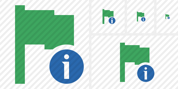Flag Green Information Icon