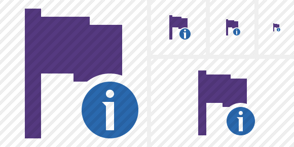 Flag Purple Information Icon