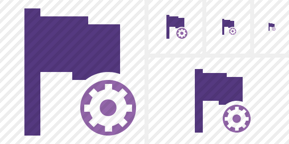 Flag Purple Settings Icon