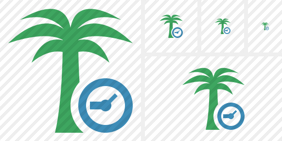 Palmtree Clock Icon