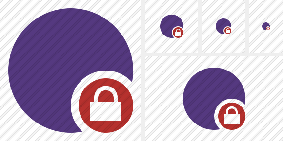 Point Purple Lock Icon
