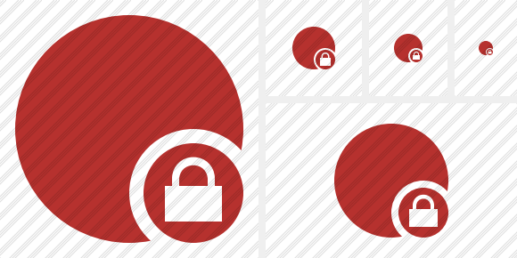 Point Red Lock Icon