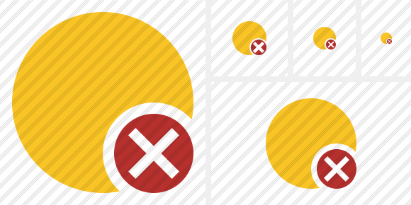 Point Yellow Cancel Icon