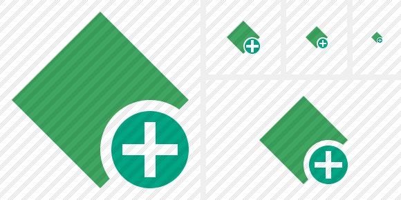 Rhombus Green Add Icon