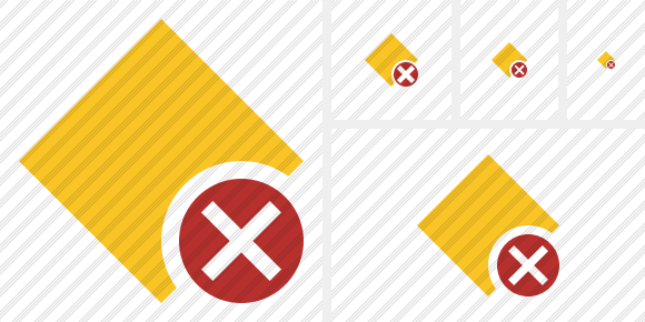 Rhombus Yellow Cancel Icon