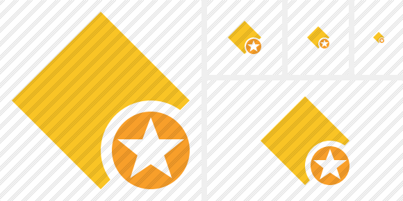 Rhombus Yellow Star Icon