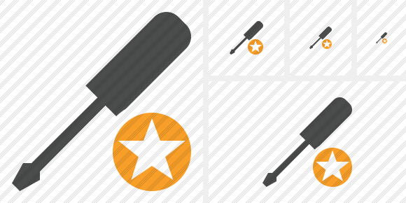 Screwdriver Star Icon