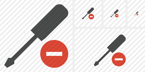 Screwdriver Stop Icon