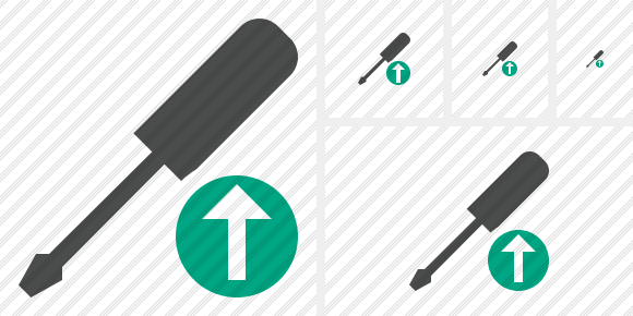 Screwdriver Upload Icon